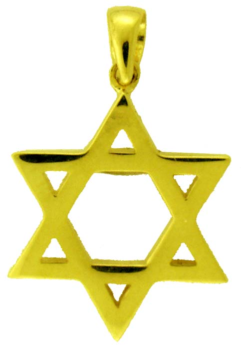 14KY STAR OF DAVID SOLID 19mm (1.8mm THICK)